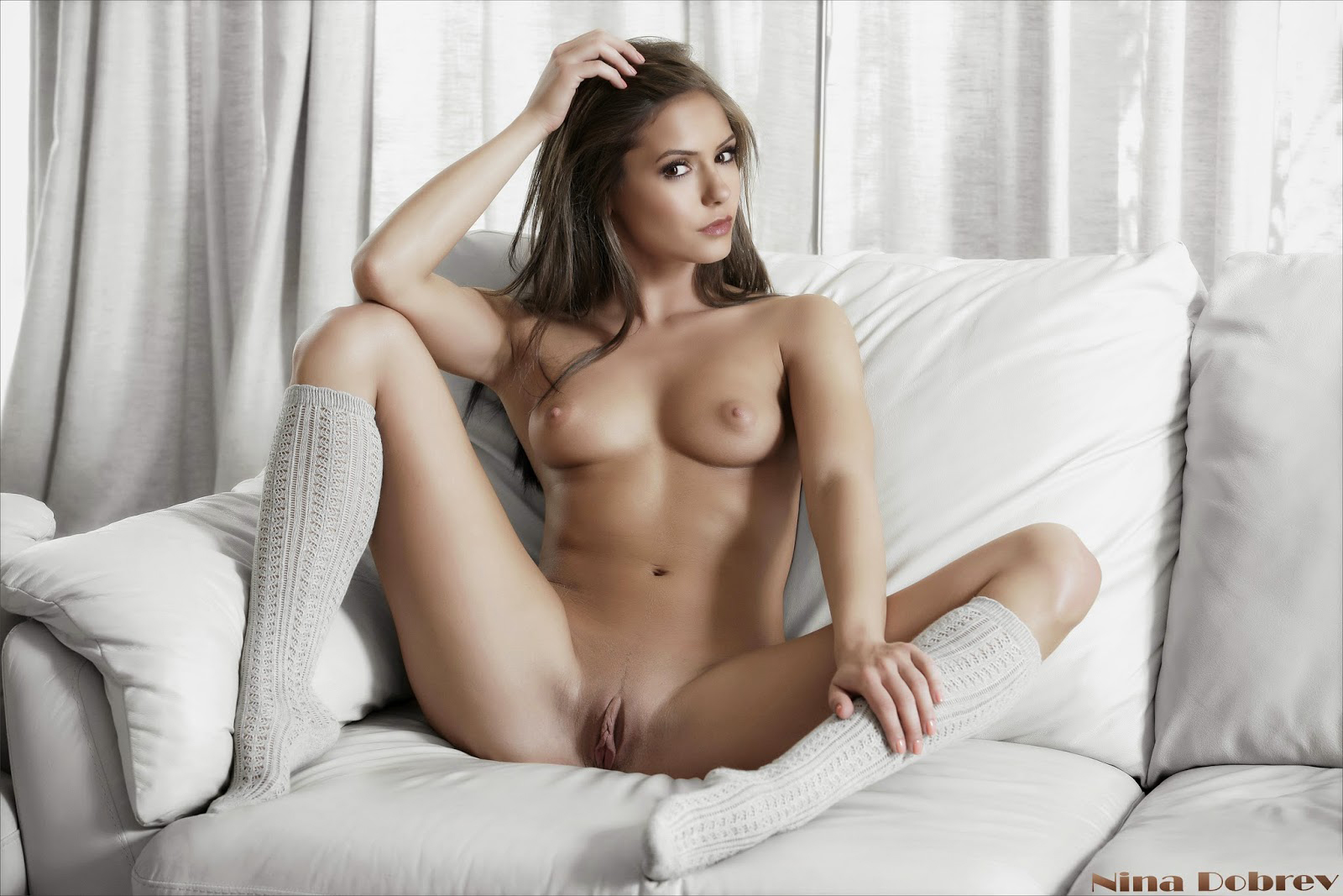 Nina-Dobrev-Nude-Showing-Her-Tits-Pussy